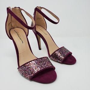 Shoe dazzle Glittery magenta heels